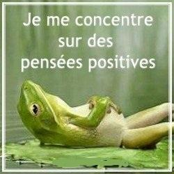 Concentre pensees positives
